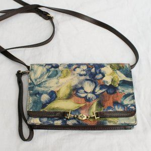 Patricia Nash Apricale Blue Clay Floral Crossbody